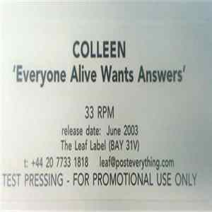 Colleen - Everyone Alive Wants Answers Album